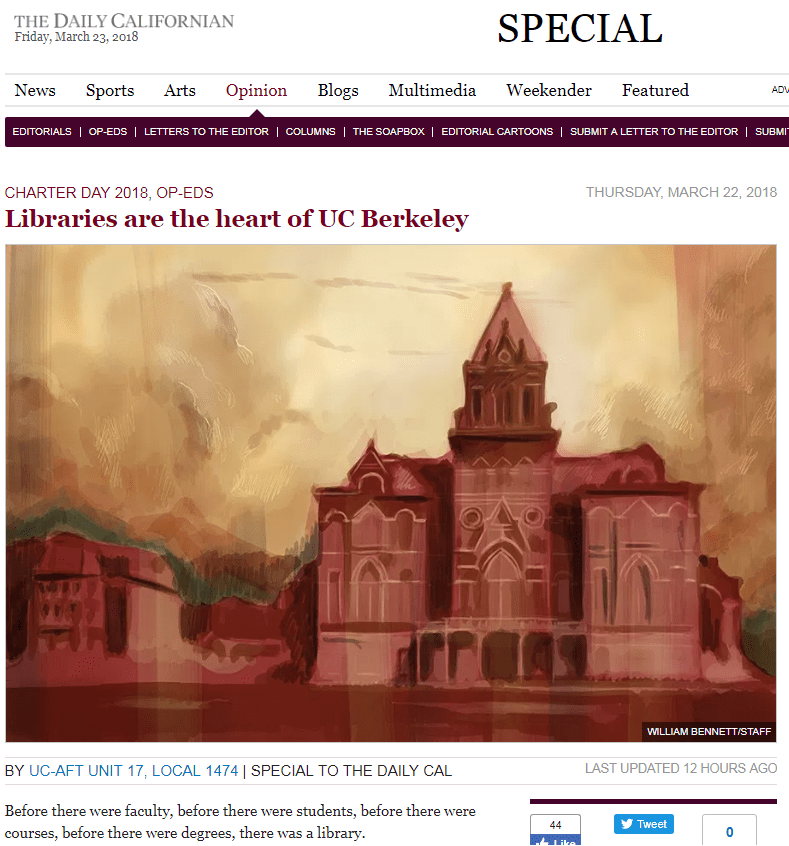 Libraries are the heart of UC Berekeley