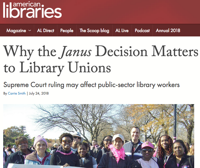 Why the Janus Decision Matters to Library Unions